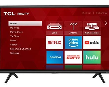 TCL 32inch 1080p Smart LED Roku TV (Renewed) –...