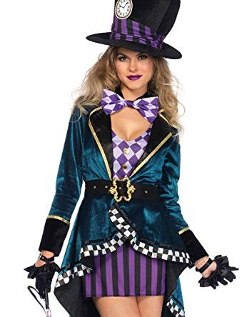 Leg Avenue Women's Delightful Mad Hatter Halloween...